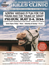Annual Horse Packing Wilderness Skills Clinic, May 2-4, 2014